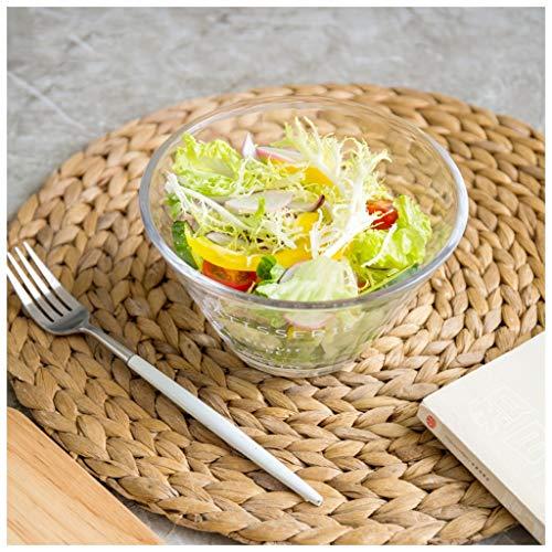 YYF Grand bol à salade de fruits en verre épais 16 cm