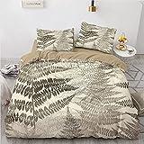 Kseyic Juego de ropa de cama vintage de 2/3 piezas, funda nórdica y funda de almohada Palm Monstera, estampado sin costuras, microfibra, reversible, multicolor (7,220 x 240 cm)