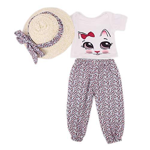 Zeagro - Ropa de muñeca con Camiseta y Gorro para Dormir (45,7 cm)
