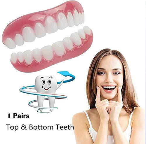 パーフェクトインスタントスマイルティースベニアインスタント美容義歯上下歯2個入り(フリーサイズ(中)
