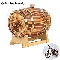オーク樽1.5L、3L、5L、10Lヴィンテージウッドオーク木材ワインスピリットウィスキーストレージバレルとタップのためにビールウィスキーラムポートバーの装飾や家庭の装飾をエージング (Color : Multi-colored, Size : 10L)