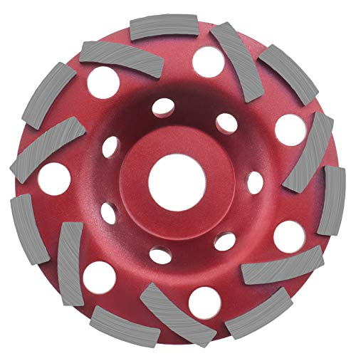 Diamond Grinding Concrete Cup Wheel 125x22.23mm 14 Holes Cutting Disc Red Angle Grinder Tool for Granite Marble Stone Brick Screed