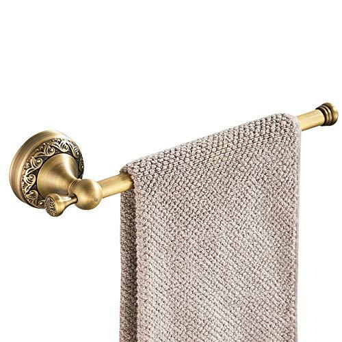 CASEWIND Kurz Handtuchstange Antik, Messing Handtuchhalter, Handtuchring Vintage mit Bohren Wandmontage Retro Landhausstil
