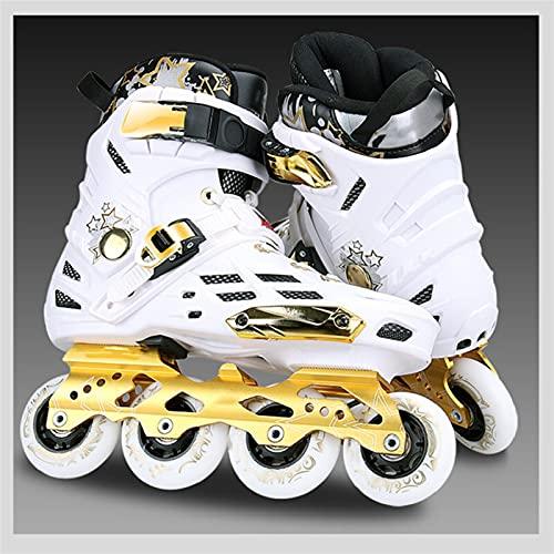CHENGSYSTE Roller Skates Boys Young Girls College Estudiantes Slalom Roller Patines Rockered 4 Ruedas Tipo En línea Skating Shoes Outdoor Skate En línea Patines by (Color : Model1, Shoe Size : 36)