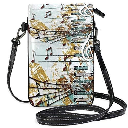 ZZKKO Mini-Umhängetasche, Handtasche, Leder, für Damen, lässig, täglich, Reisen, Wandern, Camping