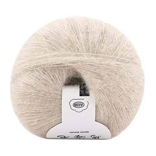 KUIDAMOS Strickwolle Garn Einzigartig handgestrickt Hervorragendes Aussehen Warme Mohair Wollfadenzubehör(17 beige)