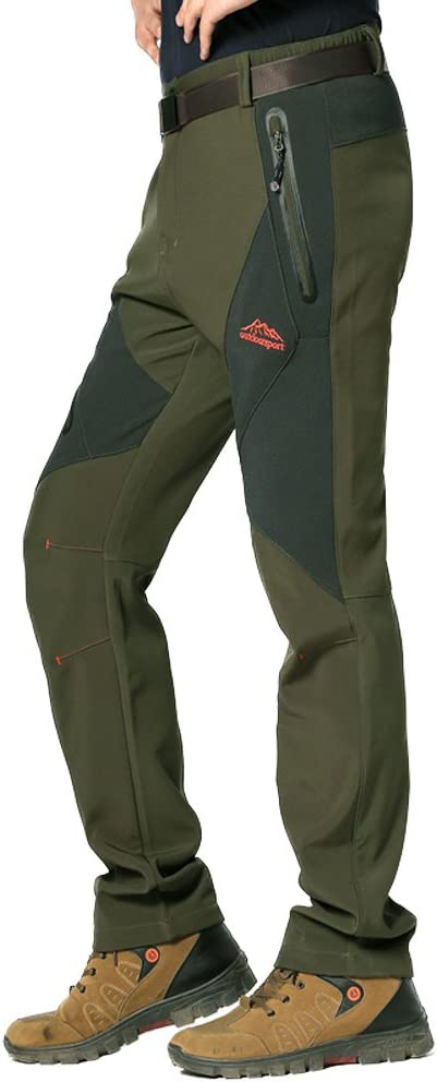 GITVIENAR Pantalons de Ski Hydrofuge Pantalon Coupe-Vent /à S/échage /Étanche Rapide pour Camping et Randonn/ée P/êche Escalade en Plein Air /Épaississement de la Chaleur Hommes Pantalons