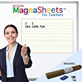 """Magnasheets Jumbo Sized (28""""W x 22""""H) Dry Erase Magnetic Student Handwriting Paper   Teacher, Classroom, Education, Distance Learning Created as Teacher Resources"""