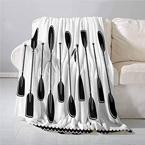 mallcentral-EU Ruderdecken-Kajak-Set mit auf- und absteigenden Paddeln und Feather River-Ruderreisedesign, Durabl Black White