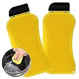 Esponja de Silicona 2 Piezas Cepillo de Limpieza de Silicona 3 en 1 Cepillo de Limpieza Creativo Multifuncional para Cocina
