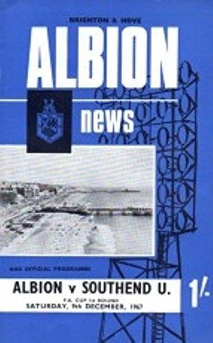 Brighton Vs Southend (F.A. Beker - 1e Rd) 67/68 Seizoen