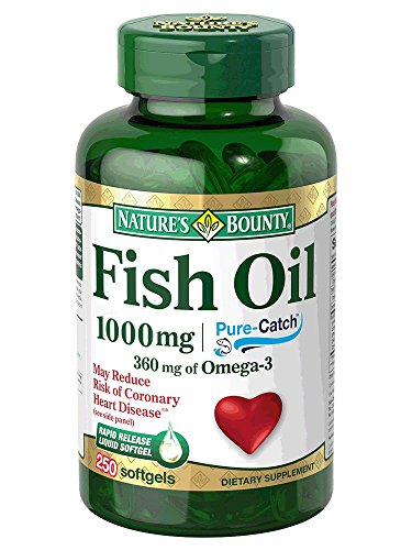 Nature s Bounty Fish Oil 1000 mg Cholesterol Free, 250 Rapid Release Liquid Softgels (Pack of 3) (Packaging May Vary)