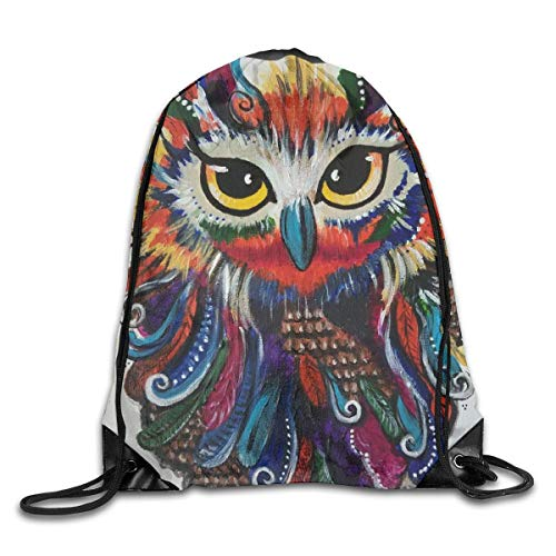 Cute Animals Owl Fox Sports Gym Bag with Shoes Compartment Travel Duffel Bag for Men Women