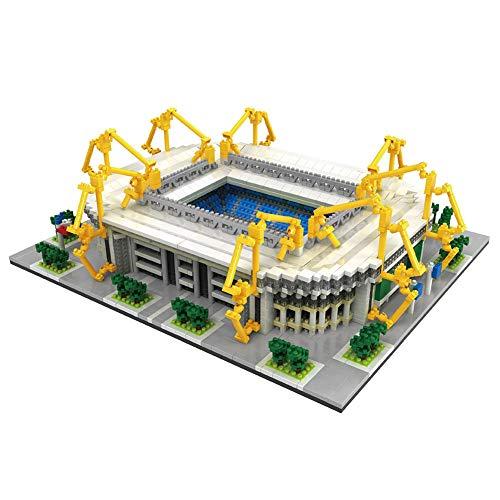 LGFB Baustein-Modell Iduna Signal Park Stadium 3800pcs Minispielzeugziegelstein Geburtstagsgeschenk Fußballturnier Andenken 3D DIY Spielzeug-Set