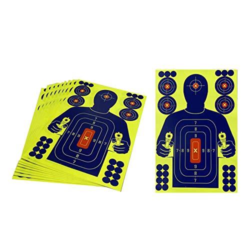 Milageto 10 Pack 12'x18' Shooting High Visibility Gun Shots Paper Target