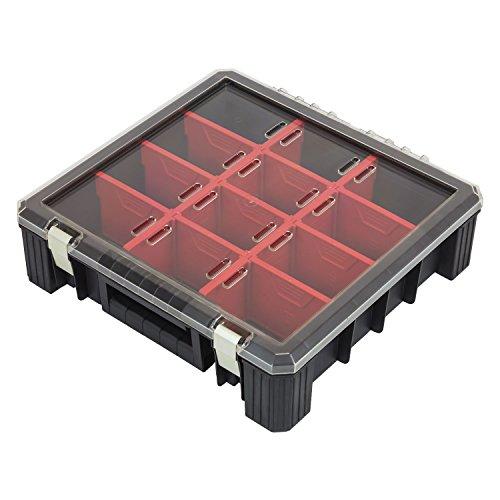 Sortimentskasten Organizer HD Flex 400 Kleinteilebox Magazin 12 Fächer Klarsichtdeckel