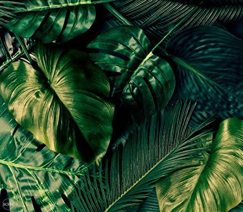 TEXTIL TARRAGO Fouta Gigante estampacion Digital fotografica 4D 210x240 cm 100% Algodon Estampado Plantas Tropicales FHD22