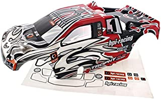 HPI 1/8 Trophy Truggy 4.6 RED, BLACK & WHITE BODY & DECALS Shell Cover #1 by HPI Racing
