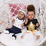 Vogvigo Reborn Baby Doll 22 Inch Realistic Silicone Baby Doll with Accessories and Certificate of Adoption Lifelike Silicone Realistic Weight Newborn Soft Body Baby Reborn Doll with Baby Crocodile