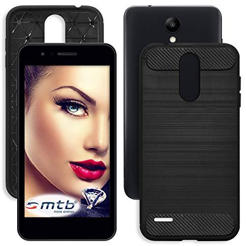 mtb more energy® Custodia Carbon per LG K9 (5.0'') - Nero - Flessibile - TPU Silicone Case Cover