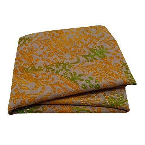 PEEGLI Mujer Indio Vintage Taupe Sari Mezcla De Seda Tela Casual Vestir Leaf Étnico Saree