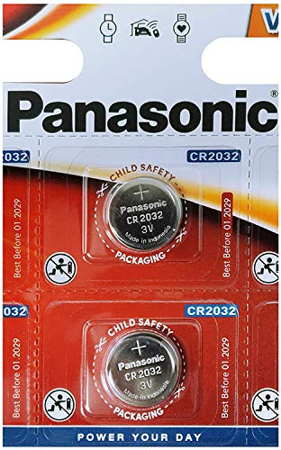 Panasonic CR2032 3V Cell Power Lithium Coin Battery (Twin Pack)