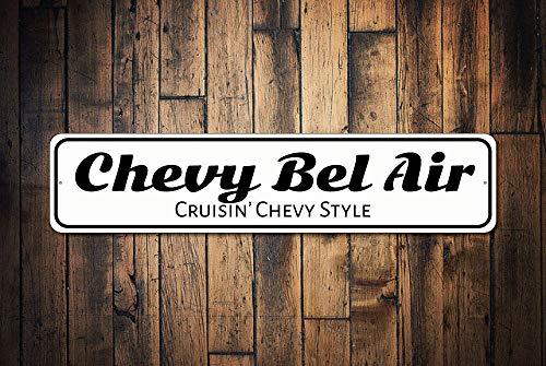 C-US-lmf379581 Chevy Bel Air Teken Bel Air Decor Bel Air Gift Aangepaste Bel Air Chevy Teken Pa Auto Teken Papa Garage Gift - Kwaliteit Aluminium Teken