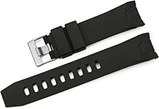 iStrap 22mm Rubber Curved end Watch Band for Omega Seamaster Planet Ocean - Black