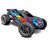 Traxxas 67076-4 Rustler 4x4 VXL Off Road Electric Remote Control RC Car with Remote Control for...