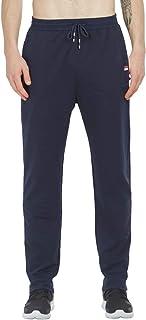 JustSun Jogging Pants for Men Gym Sewatpants Sports Tarck Pants Elastic Waist Zip Pockets