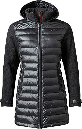 YETI Eleven W's Tecnowool Down Coat Damen Daunenmantel Mantel, Black, Größe XL