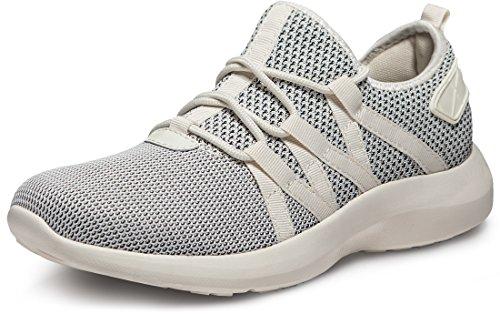 TSLA Men's Boost Running Walking Sneakers Performance Shoes, Shock Proof(x735) - Oreo, 7