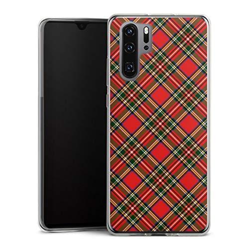 DeinDesign Slim Case extra dünn kompatibel mit Huawei P30 Pro Silikon Handyhülle transparent Hülle Schottland Schotte Muster