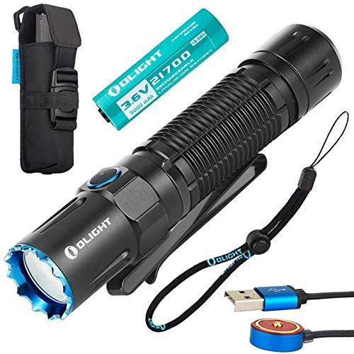 OLIGHT M2R Pro Warrior Led懐中電灯 タクティカルライト フラッシュライト 1800ルーメン IPX8防水 USB磁気充電式 5000mAh 21700充電電池 取扱説明書付属