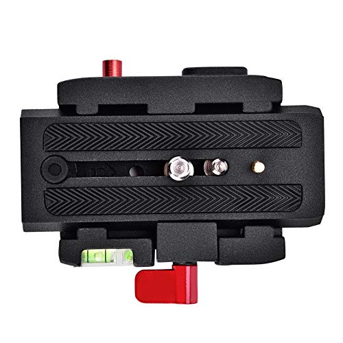 Topiky P200 Quick Release QR Clamp Base Plate para Manfrotto 500 AH 701 503 HDV 577 Compatible para Manfrotto 500AH, 701HDV, 577, etc.