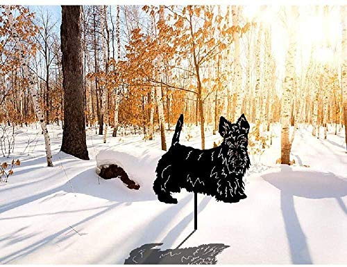 Sculpture Ornament,Garden Lawn Decoration, Metal Dog Silhouette Ornaments Statue Animal Sculptures, Decorative Garden Stakes, Yard Sign for Outdoor Yard Patio,Black