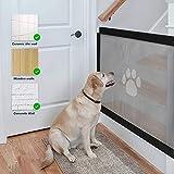 Namsan Hunde Türschutzgitter Abschließbar Hundeschutzgitter Treppenschutzgitter Absperrgitter für Haustier, 80cm x 100cm - 4