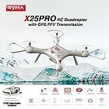 Dailyinshop Syma X25PRO RC FPV Quadcopter Drone 720P HD WiFi cámara Ajustable GPS