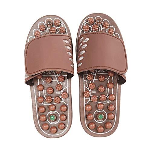 WXDP Pantuflas Calientes,Zapatillas Masajeador de pies Zapatillas, Masajeadores de pies Zapatillas de Masaje de acupresión para Hombres y Mujeres, alivian el estrés Plantar Relajación de acupresi