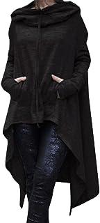 Reaso Femmes Hoodie Sweatshirt Cardigan Mode Manteau Blouson Loose Tunique Long /À Capuche Tops Elegant Pull Casual Gilet Asym/étrique Coton Shirt Blouse Grande Taille 3XL, Gris B