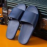 Sandalia De Meter Para Hombre Ligero De Secado RáPido Azul marino, sandalias de ducha de color sólido para el hogar de verano para mujer, antideslizantes de apartamento para parejas, EU 43-44