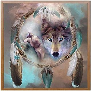 5D DIY Diamond Painting Animals Wolf Cross Stitch Diamond Embroidery Mosaic Diamonds Wall Stickers Home Decoration 30X30cm