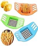 Edelstahl Kartoffelschneider Slicer Chopper Multifunktions-Obsthacker Küchengeräte (Zufällige...