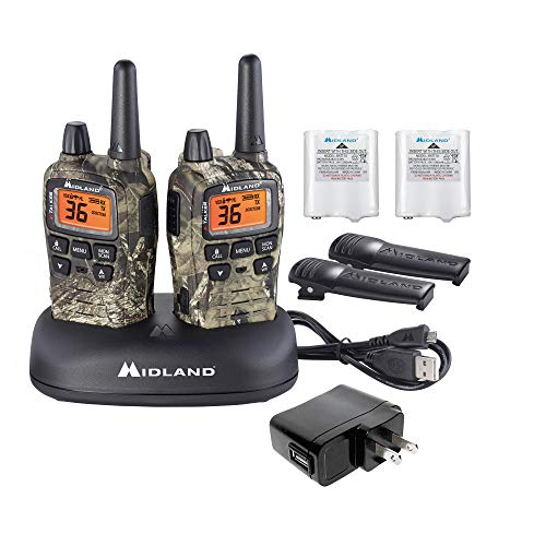 Midland - X-TALKER T75VP3, 36 Channel FRS Two-Way Radio - Up to 38 Mile Range Walkie Talkie, 121 Privacy Codes, & NOAA Weather Scan + Alert (Pair Pack) (Mossy Oak Camo). Buy it now for 89.99