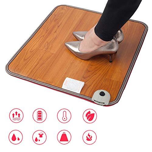 shewt Alfombrilla calefactada para pies, Almohadillas térmicas Debajo de los escritorios, Calentador eléctrico para Calentar los Dedos de los pies alfombrados para oficinistas, 50 30 (55) cm