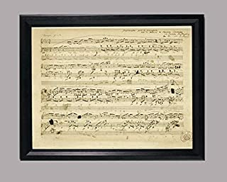 BiblioArt Series 「ショパン自筆譜-即興曲 変ト長調 作品51」 A4サイズ額装品