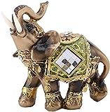 DZX Decoración de esculturas, estatuas Adornos de baño Elefante de Feng Shui Elefante de la Suerte Estatua decoración de la Tienda del hogar Elefante tailandés para la decoración d