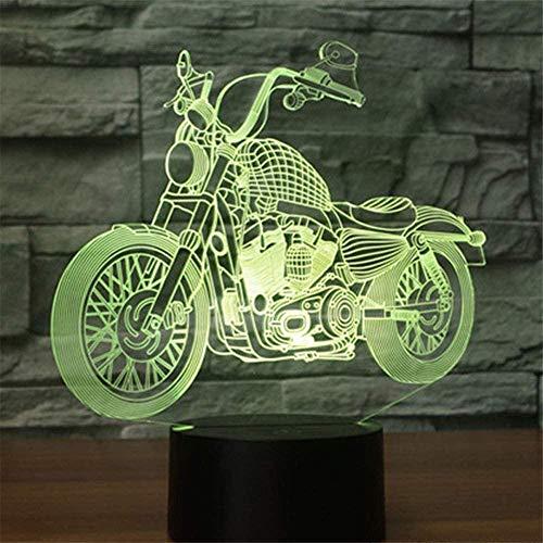 Lámpara de luz nocturna 3D para motocicleta, con 16 cambios de color y mando a distancia, regalos para niños a partir de 3 4 5 6 años
