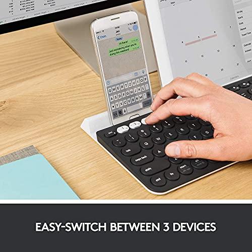 Logitech Teclado Bluetooth inalámbrico multidispositivo K780 - Diseño de EE. UU. - Speckled