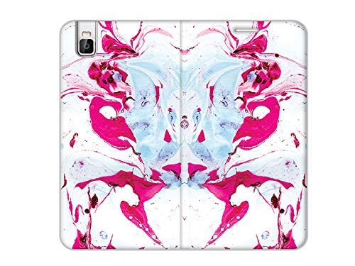 etuo Handyhülle für Huawei Shotx - Hülle, Handy Flip Hülle Flex Book Fantastic - Rosa Marmor